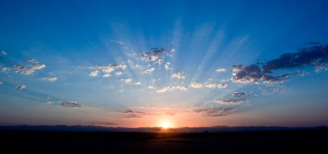 Sun rising on the horizon - Healthy Hildegard