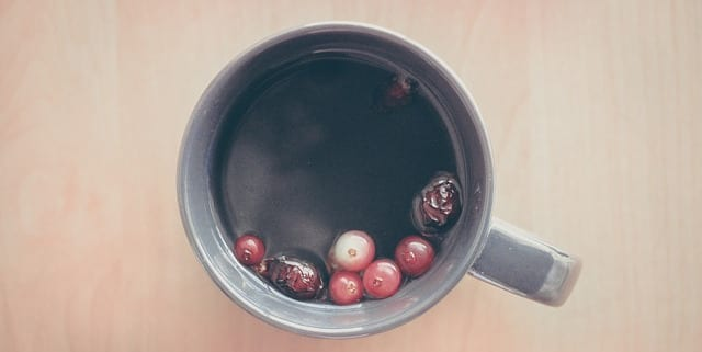 Rosehip tea with fruits