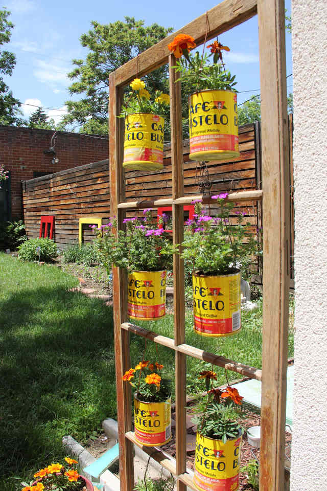 gardening crafts coffee cans