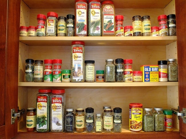 healing spices spice rack