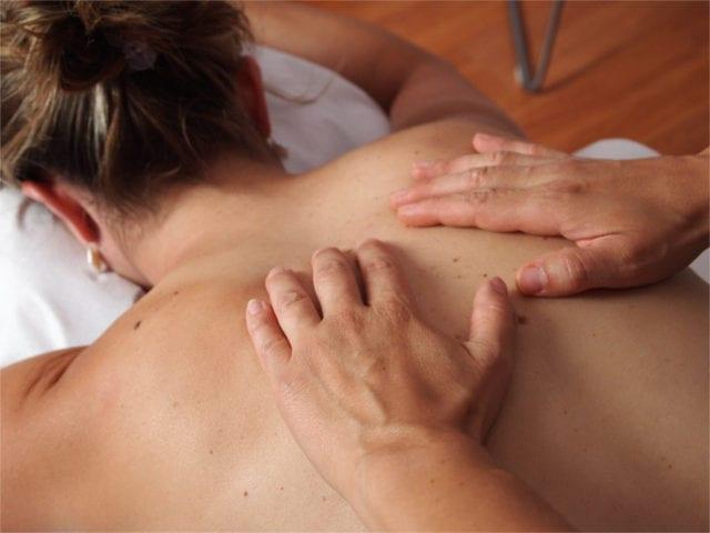 A relaxing massage will help mitigate discomfort.