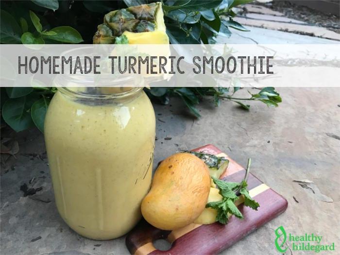 homemade turmeric drink