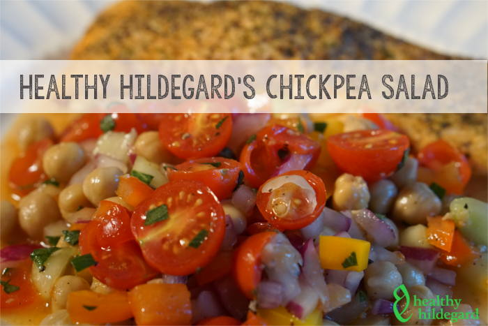 healthy chickpea salad