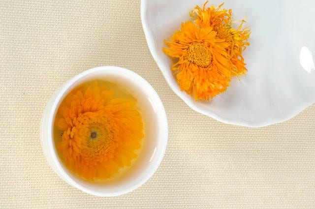 marigold calendula flower tea health benefits